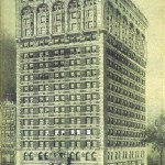 An early architectural rendering of the new St. James Building shows its original extravagant ground floor design.