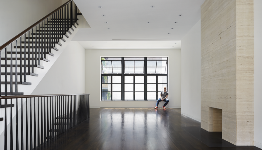 William Reue Architecture designed the beautiful Riverview Townhouse in the west villiage
