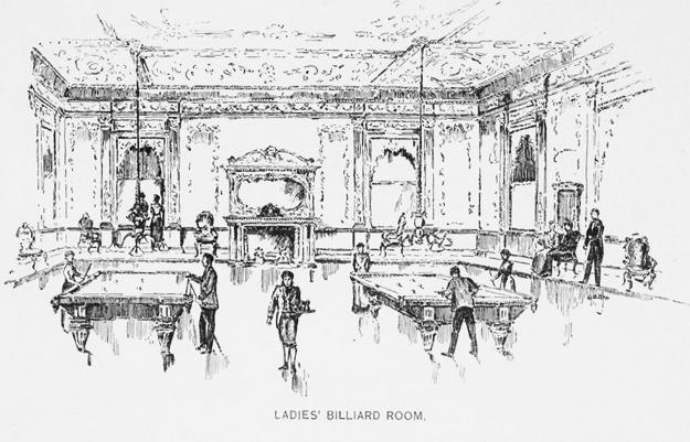 ladies billiard room at holland house