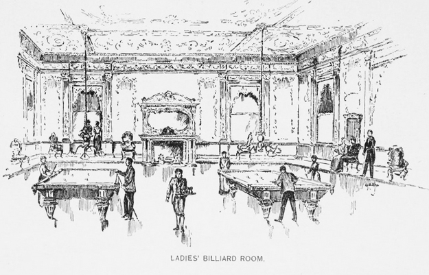 ladies billiard room at holland house