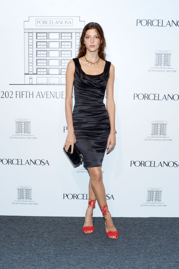 Marta Ortiz at the porcelanosa party