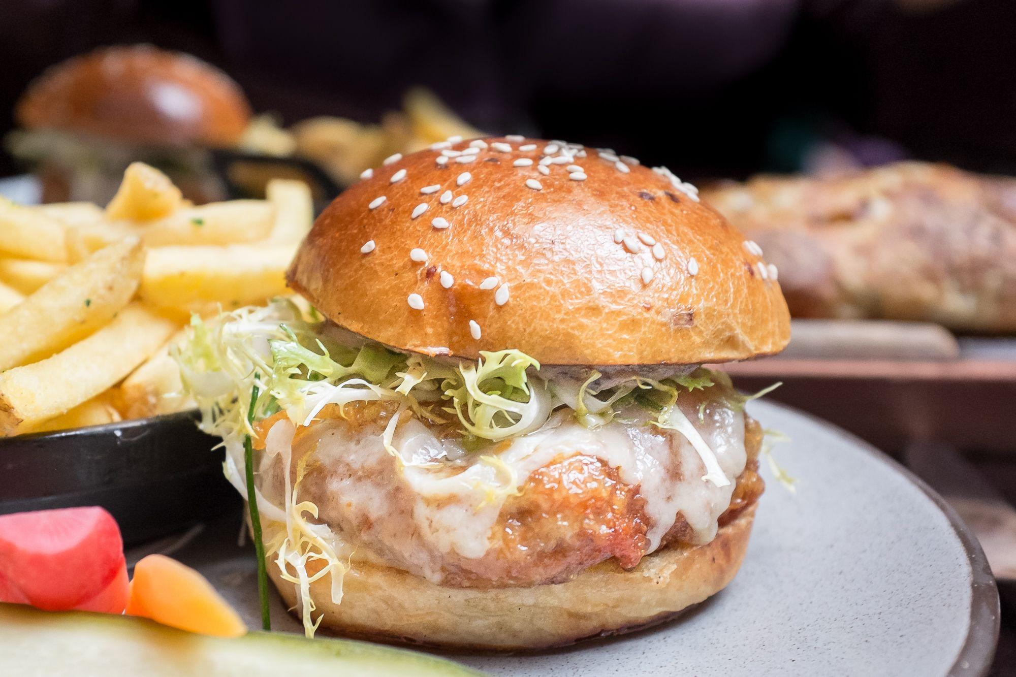chef daniel humm's chicken burger at the nomad
