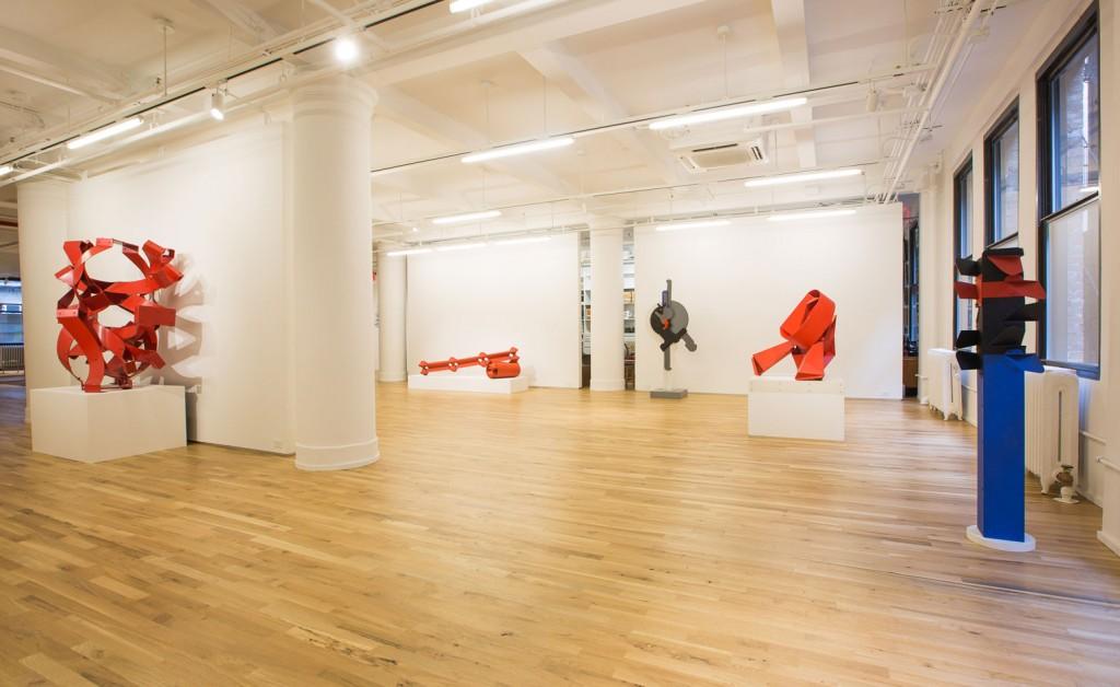 edgar negret installation at leon tovar gallery in nomad