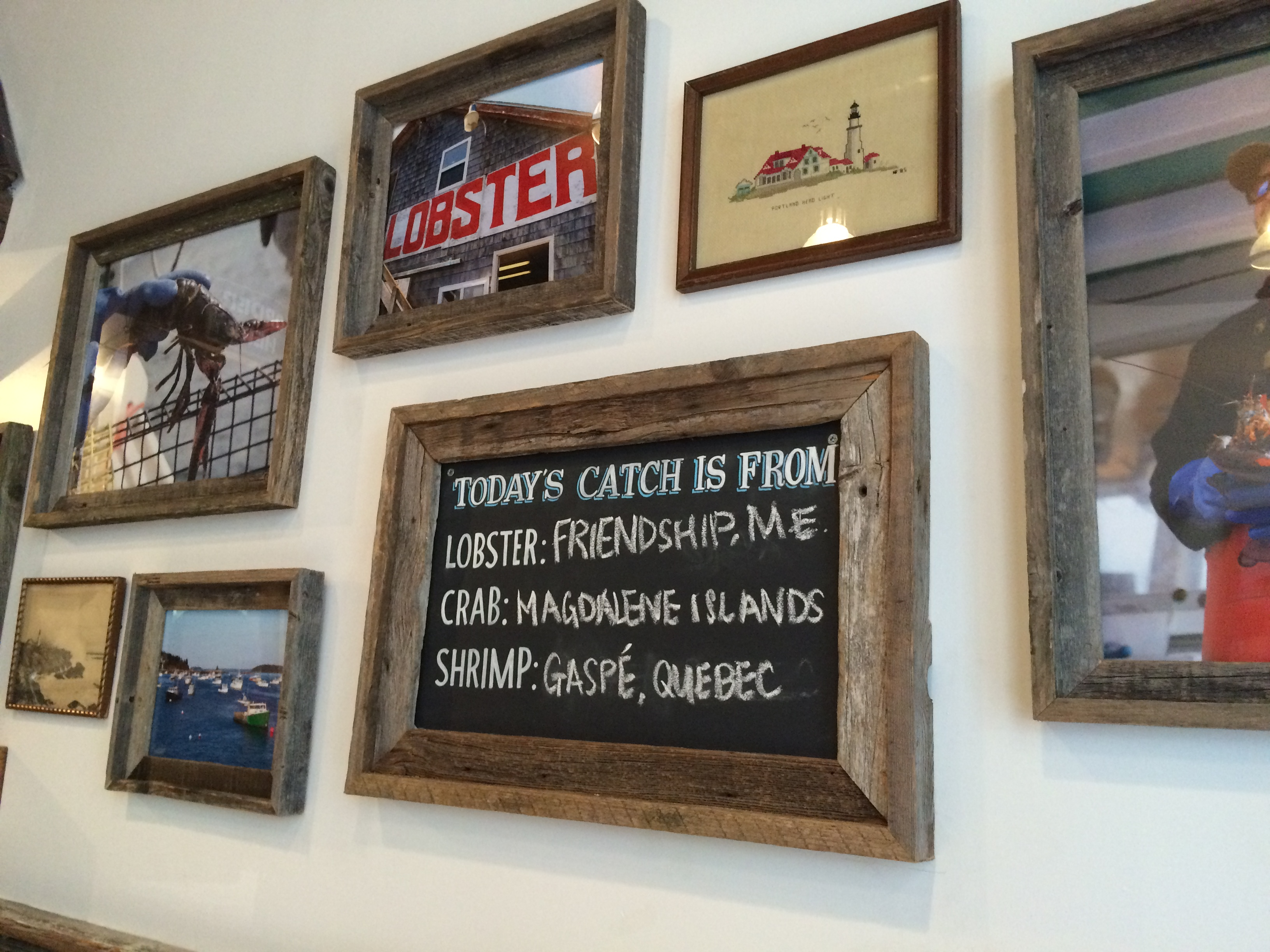 lukes lobster catch of the day board at nomad location