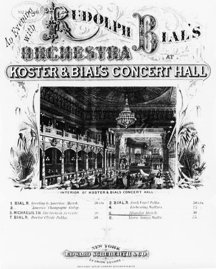 rudolph bials orchestra at koster and bials
