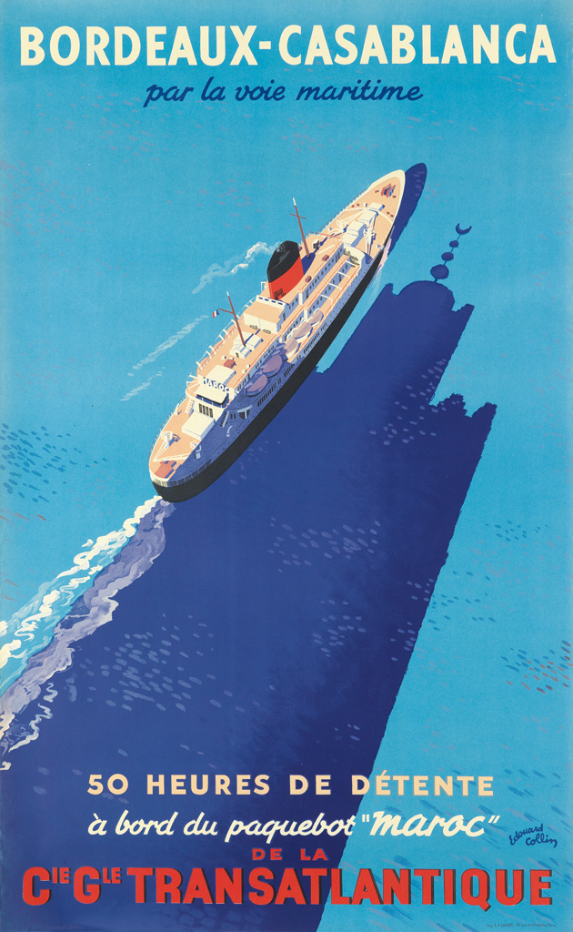 bordeaux casablanca vintage poster at swann galleries