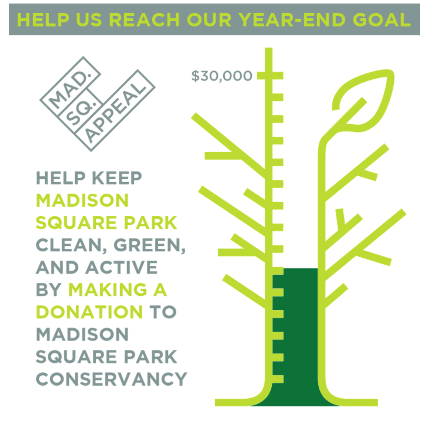 madison square park donation appeal for park services