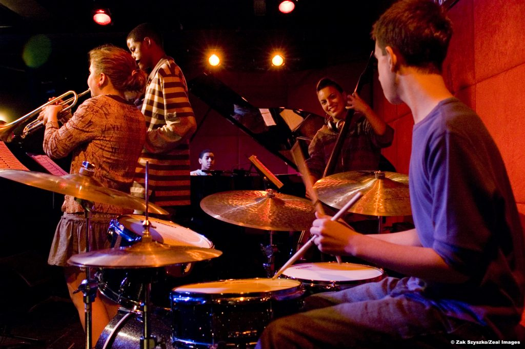 youth big band nyc performs every week at jazz standard