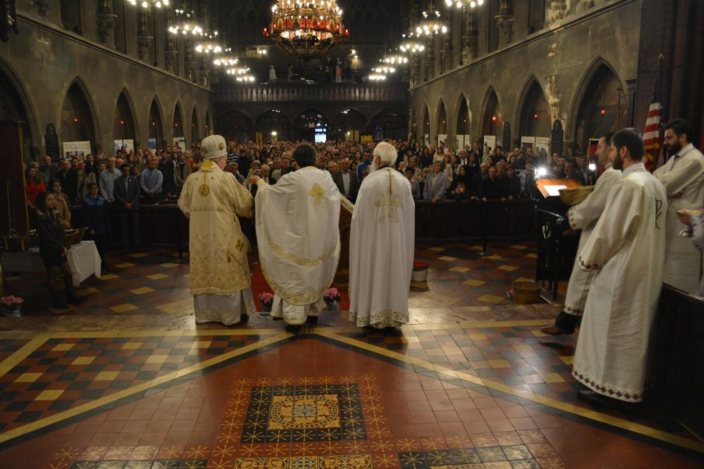 Easter services at St. Sava hours before the fire broke out.