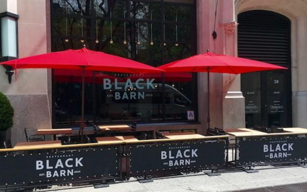 NoMad restaurant Black Barn made the Zagat top ten list for NYC outdoor dining