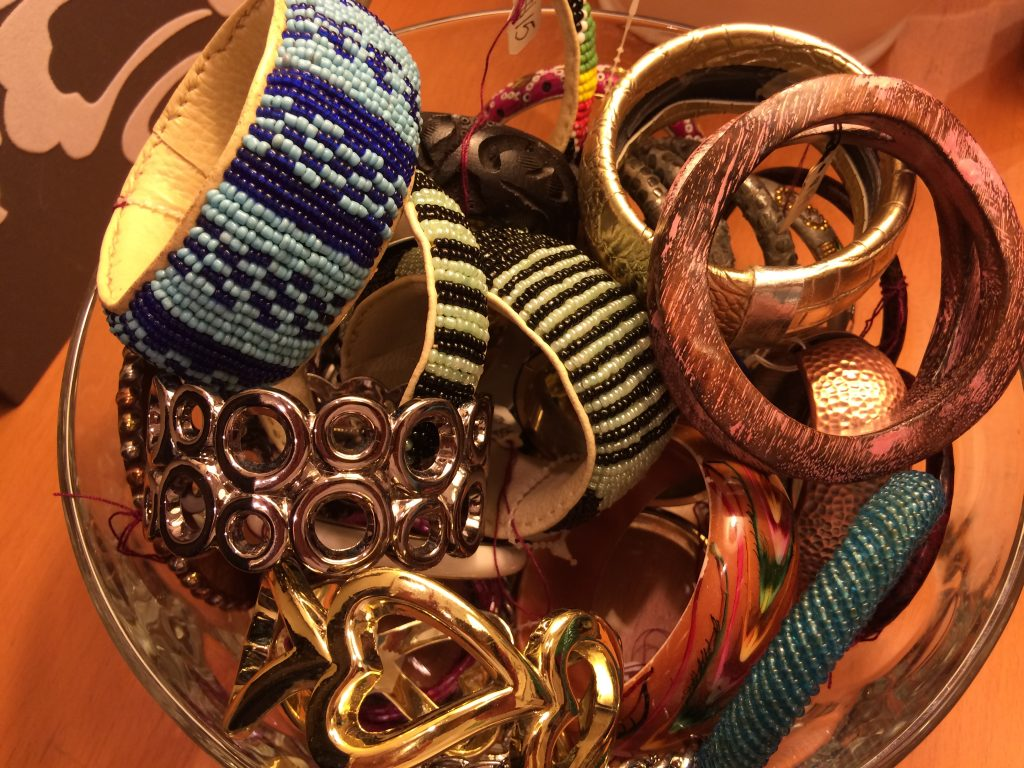 assorted bracelets at the thrifty hog