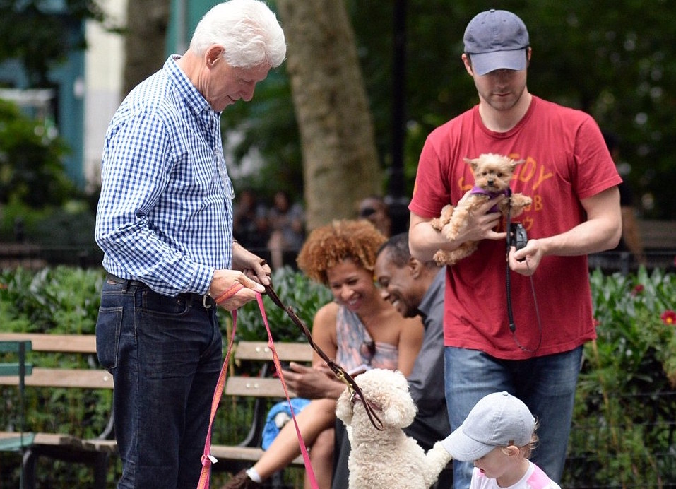 Bill and Hillary Clinton were spotted last weekend in NoMad and Madison Square Park