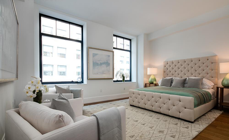 carlton cuse guest bedroom at 10 madison square west
