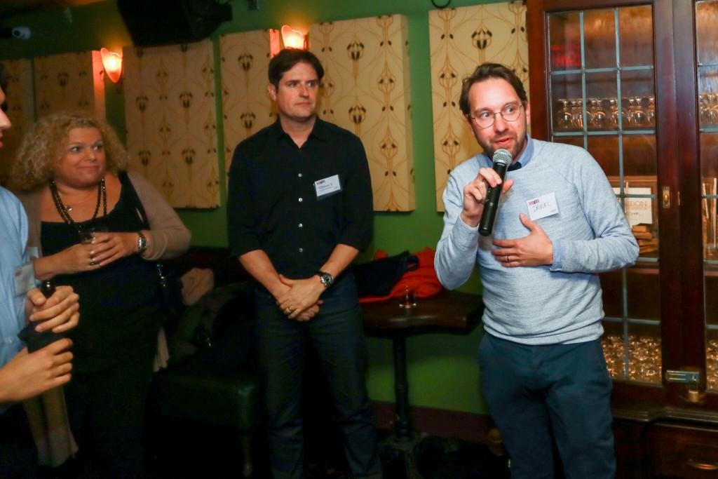 Board members Tommy Tardie of The Flatiron Room and Daniel Murphy of Electric Orange Creative