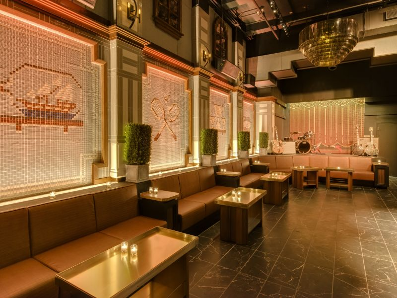 The Squares nightclub in NoMad won design acclaim from Metropolis magazine.