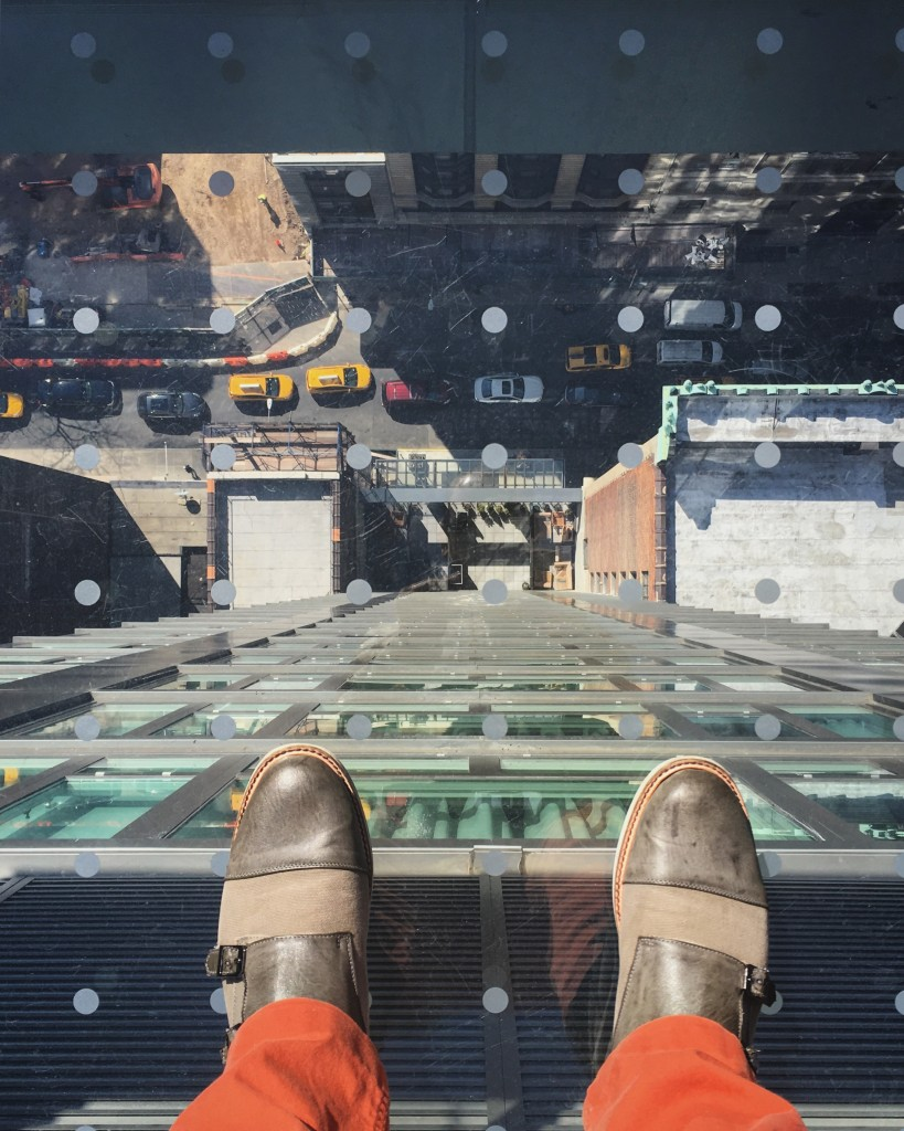 glass floor walkway at the arlo nomad heights