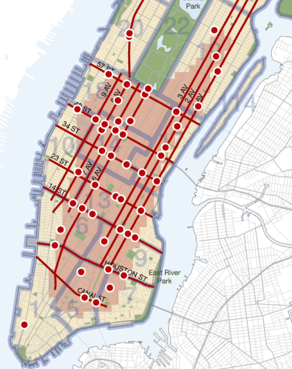Most dangerous intersections in nyc
