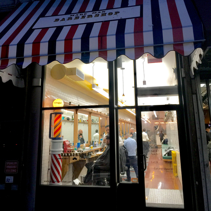 Find barbershops near Madison Square Park, like Made Man