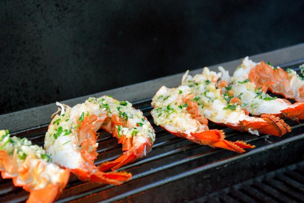 grilled lobster garlic butter recipe