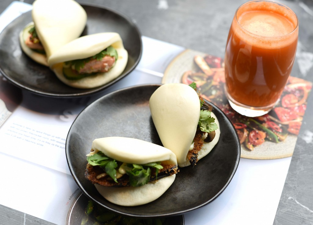 Panko Eggplant and Salmon Cucumber Bunson Wagamama's Summer Menu