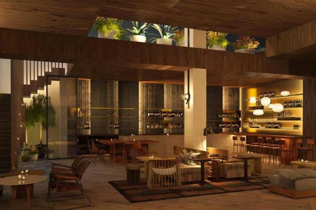 made hotel rendering featuring Ferris restaurant