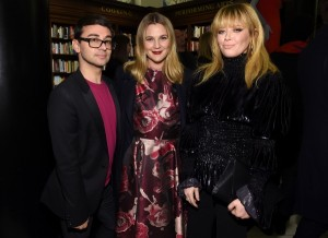 Christian Siriano, Drew_Barrymore and Natasha Lyone at Rizzoli Bookstore.