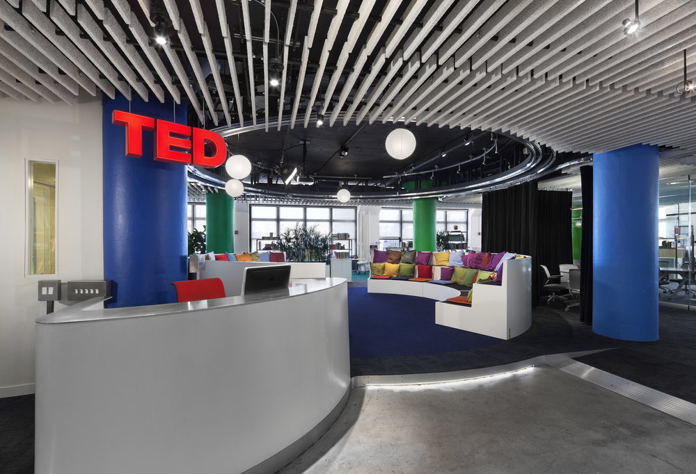 See the Atema Architects design of the TED office in nyc.