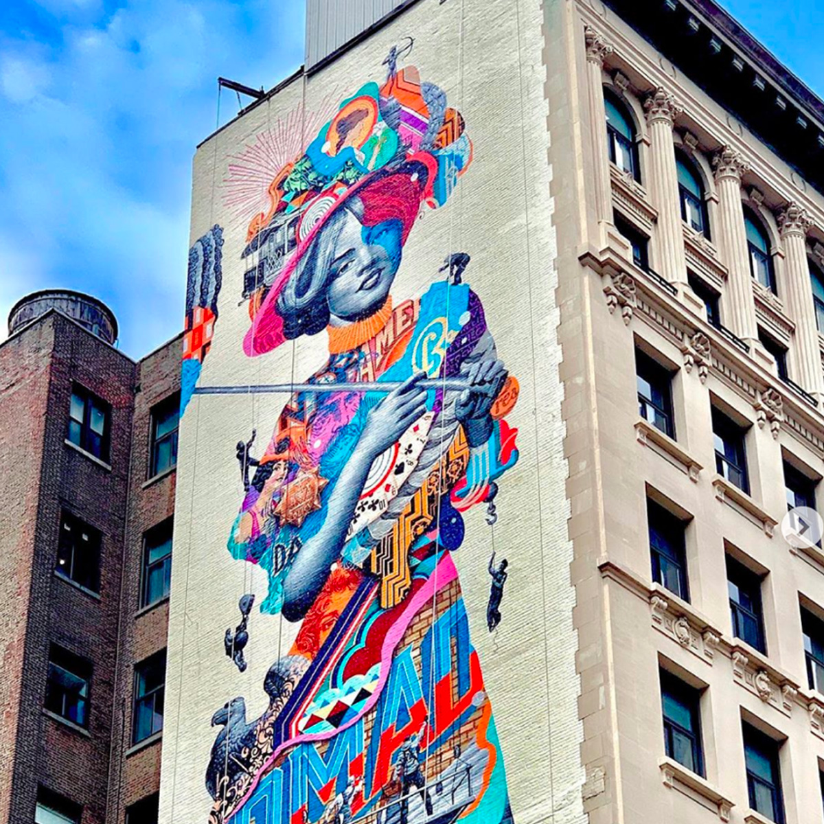 """New """"Gilded Lady"""" Mural on Fifth Avenue Pays Homage to NoMad History"""